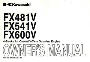 KAWASAKI FS481V FS541V FS600V AIR COOLED V-TWIN ENGINES