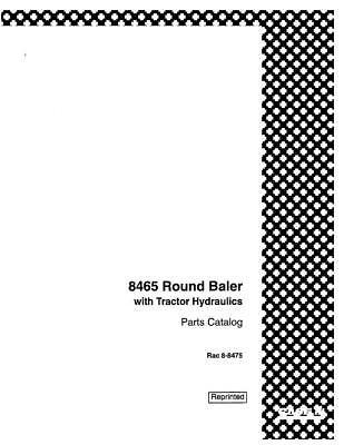 CASE IH 8465 ROUND BALER W,TRACTOR HYDRAULICS . PARTS