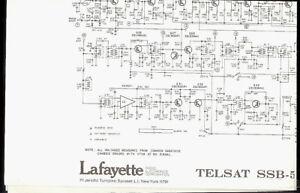 Lafayette Telsat SSB-50A CB Radio Original Factory