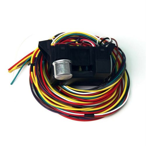 small resolution of details about 12v 10 circuit basic wire harness fuse box street hot rat rod wiring car truck