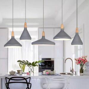 Kitchen Pendant Light Bar Lamp Wood Pendant Lighting Modern Grey Ceiling Lights Ebay