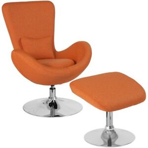 orange egg chair covers target flash furniture fabric with ottoman in ebay