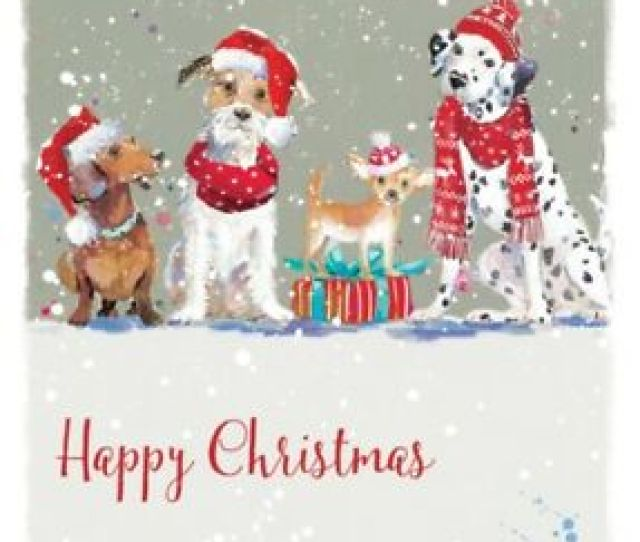 Image Is Loading Wadars Animal Rescue Christmas Dogs Charity Xmas Cards
