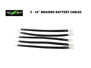 2 Awg HD Golf Cart Battery Cable 5 pc Black Club Car DS
