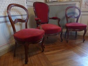lot de 2 chaises louis philippe d