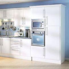 Kitchen Matt Blanco Sink Beveled Edge White Cupboard Doors Fit Howdens B Q Image Is Loading