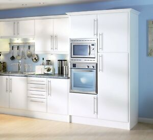 white kitchen cabinet doors cabinets online beveled edge matt cupboard fit howdens b q image is loading