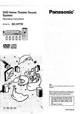 Panasonic SA-HT70 Home Theater System Owners Instruction