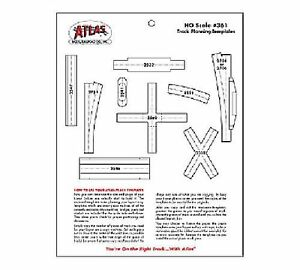 ATL 361 Atlas HO Scale Track Planning Template New Free