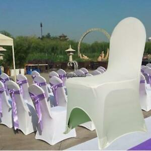 white folding chair covers ebay high dining room table 100pcs polyester for wedding party birthday image is loading