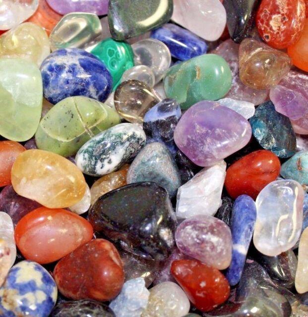 BULK Lot 12 LB Tumbled GEMSTONES Crystals Mix Rocks Stones Grade a Natural  eBay