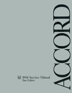 1994 Honda Accord Shop Service Repair Manual Engine