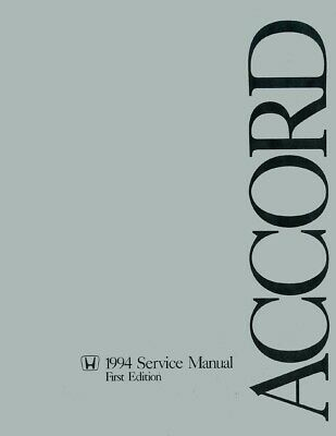 1994 Honda Accord Shop Service Repair Manual Engine