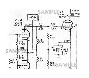 Vox Tube Amplifier Cambridge Reverb Schematic Diagram