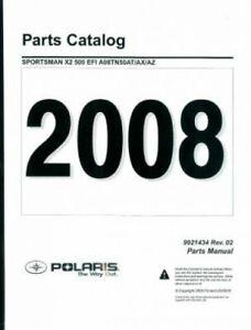 2008 Polaris Sportsman X2 500 EFI Parts Manual : 9921434