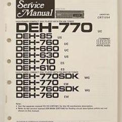 Hpm 770 Wiring Diagram 89 Toyota Pickup Radio Pioneer Deh 85 760 660 630 710 610 Original Service Manual Image Is Loading
