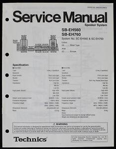 Technics SB-EH560/SB-EH760 Original Speaker System Service