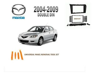 NEW 2004-2009 MAZDA 3 Car Stereo Double DIN Dash Kit, Tool