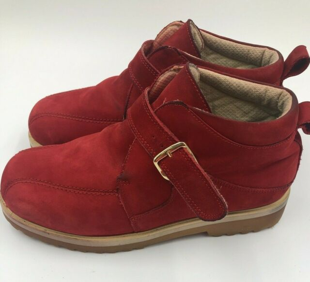 buffalino mens boots chukka red suede leather buckle size 11 713156