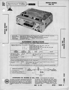 1960 MOPAR 106 112 RADIO SERVICE MANUAL PHOTOFACT 02BS