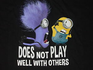 MINIONS DESPICABLE ME2 Does NOT Play Well OTHERS TShirt