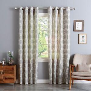 WAREHOUSE SALE Linen Blend Bazaar Print Curtain Set