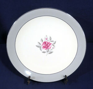 Flintridge China MIRAMAR Pink Rose Silver Trim Dinner