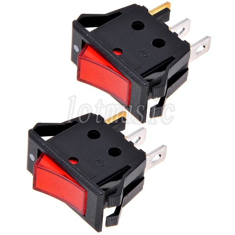 Manual Rocker Switch Kit Wiring Harness 15a 250v Single Toggle Spst