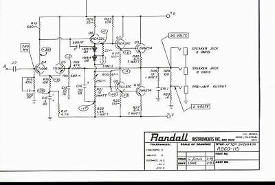 Randall Instruments RB-60-115 Bass Guitar Amplifier