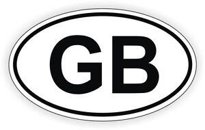 GB Oval Vinyl Decal Bumper Sticker Euro Great Britain