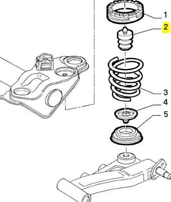 Mk1 176 Fiat Punto 1993-1999 Rear Suspension Bump Stop