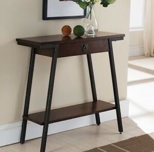 Small Console Table With Drawer Wood Sofa Entryway Hallway Foyer Hall Living Rm Ebay