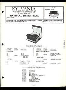 Rare Original Factory Sylvania 45P30 Turntable Record