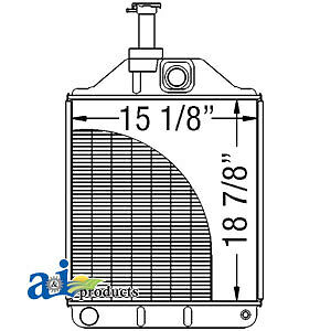 A-1876606M4 Massey Ferguson Parts RADIATOR 261