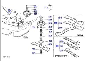 Kubota High Lift Blade Set For G18, G21, GR2100,GR2120