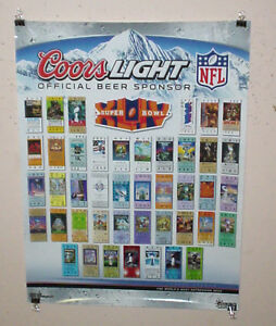 details about coors light beer super bowl 43 tampa tickets poster