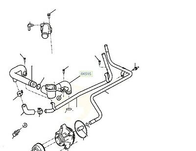 GENUINE FORD BA BF FG FALCON 32V 5.4 LOWER THERMOSTAT