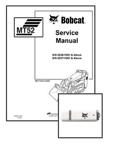 Bobcat MT52 Workshop Repair Service Manual 6902525 USB