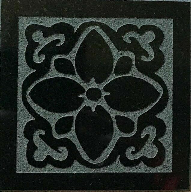 6x6 appalachia design black absolute granite decorative tile floor wall inserts
