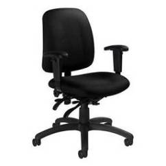 Office Chair With Adjustable Arms Antique Rocking Value Global Goal 2237 3 Fabric Multi Tilter Low Back Image Is Loading