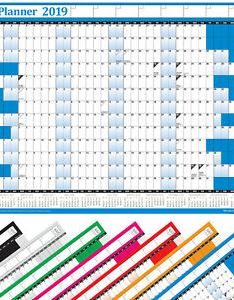 Image is loading year planner wall chart with calendar also inc holidays rh ebay