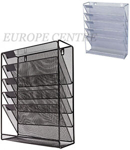 details about office file organizer shelf wall mounted document holder a4 paper rack mesh