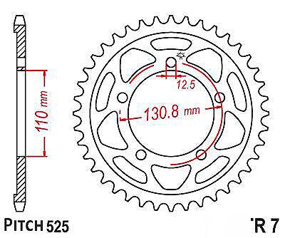 Hendler Rear Sprocket 45 Teeth (007-45) Ducati Monster 620
