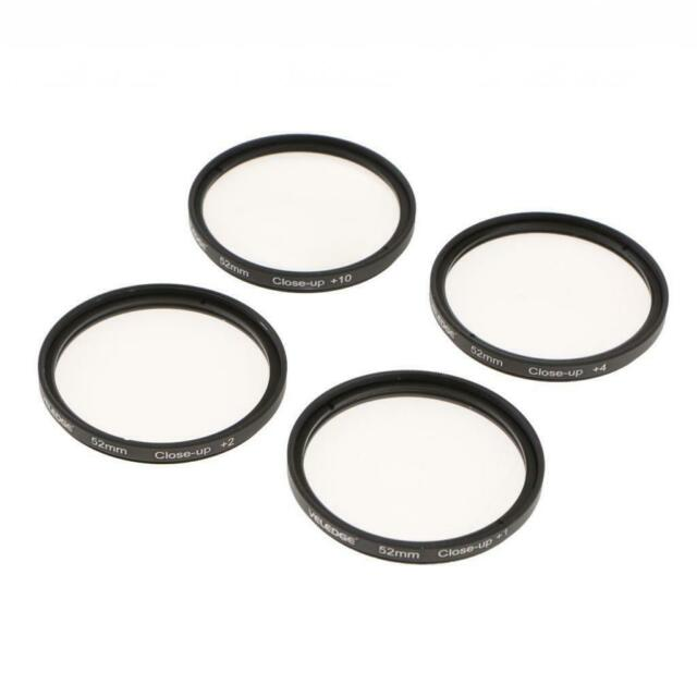 52mm +1 +2 +4 +10 Close-Up Filter Set+Bag for Canon EF-S