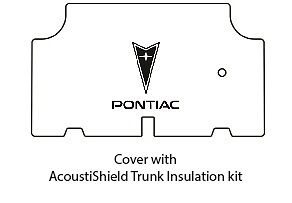 1964 1967 Pontiac Trunk Rubber Floor Mat Cover with G-086