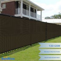 Customize 5' FT Tall Brown Privacy Screen Fence Windscreen ...