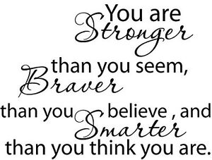 Christopher Robin Winnie the Pooh You are stronger Vinyl