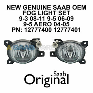 SAAB FOG LIGHT PAIR 9-3 08-11 9-5 04-09 AERO NEW GENUINE