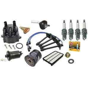 94-95 Toyota Camry OEM Tune-Up Kit Cap+Rotor+Spark Plugs