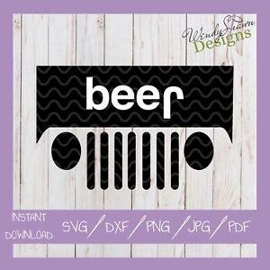 Download Jeep Beer, Jeep Lover, Beer Lover, SVG DXF EPS PNG Cut ...